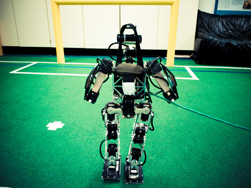 Emmy, a football playing robot