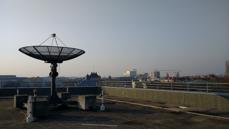 Satellite dish above the TU